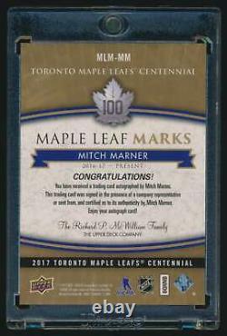 2017-18 Maple Leafs Centennial Leaf Marks Mitch Marner Auto #MLMMM