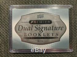 2017-18 Premier Dual Auto Signature Booklet # /20 Auston Matthews & Doug Gilmour