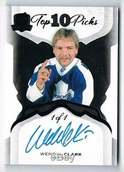 2017-18 The Cup Top 10 Picks Autograph Auto Black 1985-1 Wendel Clark 1/1 1 of 1