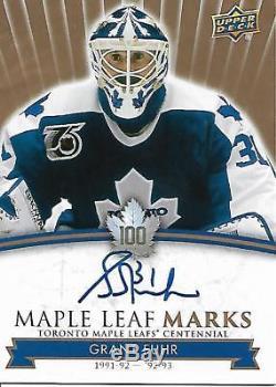 2017-18 Toronto Maple Leafs Centennial Maple Leaf Marks #MLMGF Grant Fuhr A