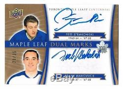 2017-18 Toronto Maple Leafs Centennial Marks Auto Frank Mahovlich Stemkowski /35