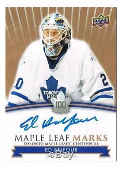 2017-18 Toronto Maple Leafs Centennial Marks Autograph Auto Ed Belfour! GROUP A