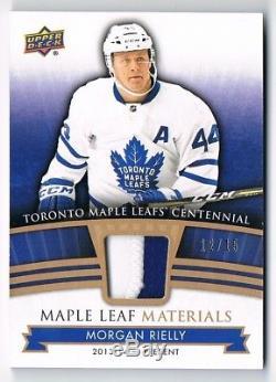 2017-18 Toronto Maple Leafs Centennial Materials Premium PATCH Morgan Rielly /15