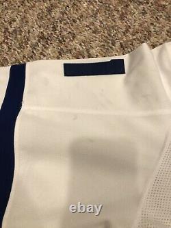 2017-18 Toronto Maple Leafs Road Set 2 Zach Hyman Game Worn Used Adidas Jersey
