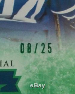 2017-18 UD Toronto Maple Leafs Centennial #200 Auston Matthews Green 08/25 SSP