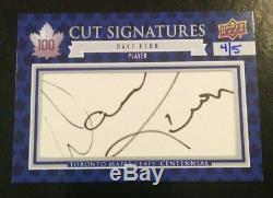 2017-18 UD Toronto Maple Leafs Centennial Dave Keon Cut Signatures # 4/5 SSSP