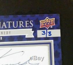 2017-18 UD Toronto Maple Leafs Centennial Ted Kennedy Cut Signatures #3/3 SSSP