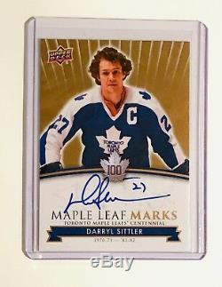 2017 Darryl Sittler Toronto Maple Leafs Centennial Auto
