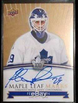 2017 Toronto Maple Leafs Centennial Autograph Felix Potvin MLM-FP Mint Condition