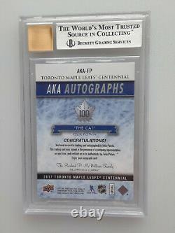 2017 UD Toronto Maple Leafs Centennial AKA Auto Felix Potvin #AKA-FP BGS 9 Mint