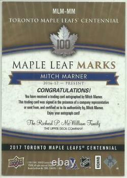 2017 Ud Maple Leafs Centennial Mitch Marner Ssp Maple Leaf Marks #mlm-mm Group A