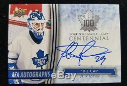 2017 Ud Toronto Maple Leafs Centennial Aka Autograph The Cat Felix Potvin
