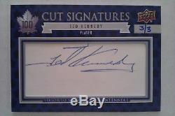 2017 Ud Toronto Maple Leafs Centennial Ted Kennedy Cut Signatures Auto /3
