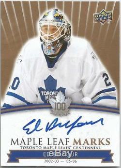 2017 Upper Deck Toronto Maple Leafs Centennial Leaf Marks Auto ED BELFOUR MLM-EB