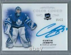 2018-19 The Cup CURTIS JOSEPH Color Coded AUTO 15/22 CC-CJ Toronto Maple Leafs