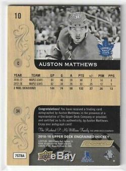 2018-19 UD Engrained Auston Matthews Auto! Leafs! MVP