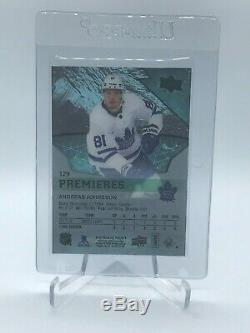 2018-19 UD Upper Deck Ice Premieres Black #129 Andreas Johnsson 1/1 One of One