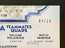2019-20 Artifacts Tundra Teammates Quads Toronto Maple Leafs Marner Nylander /10