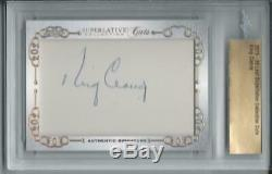 2019-20 Leaf Superlative Hockey Collection KING CLANCY Cuts Signatures