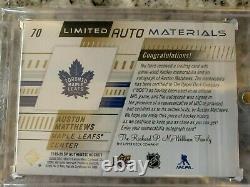 2019-20 SP Authentic Limited Auto Materials Auston Matthews 07/10