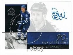 2019-20 SP Authentic Sign of the Times 90s 1990's Autograph Doug Gilmour SSP