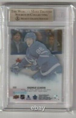 2019-20 UD Series 1 Young Guns Exclusives Clear Cut Rasmus Sandin Maple Leafs