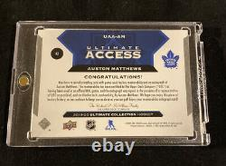 2019-20 ULTIMATE COLLECTION AUSTON MATTHEWS ULTIMATE ACCESS AUTO JERSEY #d 17/35