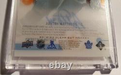 2019-20 Ud Clear Cut Hockey High Gloss Auston Matthews Auto Prime #10/10