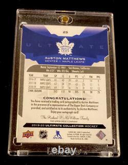 2019-20 Ultimate Collection Auston Matthews On-card Auto Sp! Maple Leafs