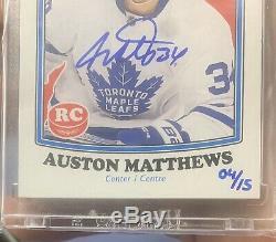 2019-20 Upper Deck Buybacks Auston Matthews OPC Rookie Auto /15 Maple Leafs