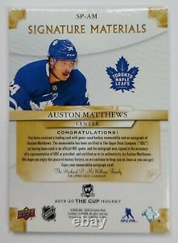 2019-20 Upper Deck The Cup Hockey PATCH Autograph AUSTON MATTHEWS Auto 8/10