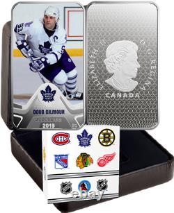 2019 Toronto Maple Leafs NHL Original Six TeamLeader Doug Gilmour $25 1.5OZ Coin