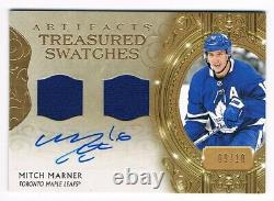 2020-21 Artifacts Treasured Swatches Autograph Jersey #TS-MM Mitch Marner 09/10