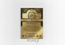2020-21 UD Artifacts AURUM SIGNATURES EMERALD Jason Robertson Stars 1/1 MINT