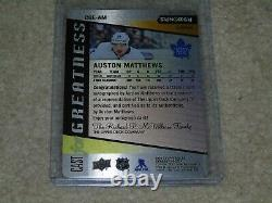 2020-21 UD Synergy Auston Matthews Cast for Greatness Black Metal Auto E-Pack