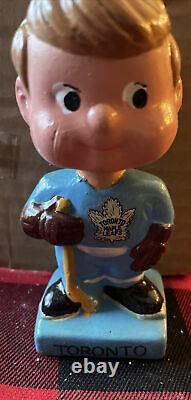 60s Toronto Maple Leaf Bobble Head Bobbin Nodder Doll Mascot Hockey NHL MIB COA