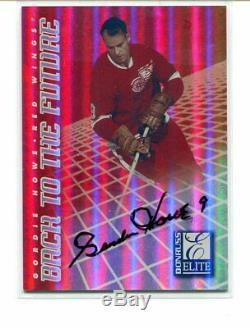 97-98 Donruss Elite Back to the Future Autograph #8 Howe / Yzerman #0032/1500