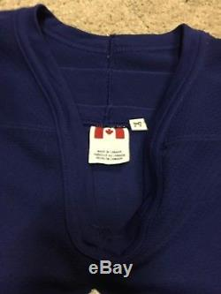 ALEXANDER MOGILNY 01'02 Blue Toronto Maple Leafs NHL Game Worn Used Jersey COA