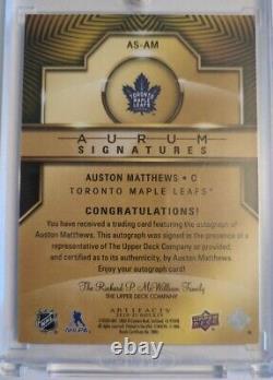 AUSTON MATTHEWS 2020-21Upper Deck Artifacts Aurum SIGNATURES #12/25! AUTO Leafs