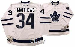 AUSTON MATTHEWS Autographed 2016 #1 Pick Maple Leafs Jersey FANATICS LE 34