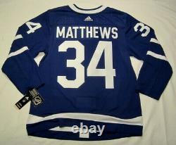 AUSTON MATTHEWS size 54 = XL Toronto Maple Leafs ADIDAS Jersey PRO CUSTOM home