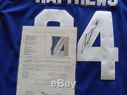 Auston Mathews Autographed Toronto Maple Leafs Jersey JSA Letter Cert COA