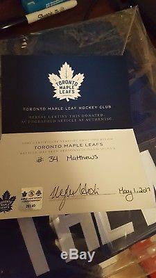 Auston Mathews Autographed Toronto Maple Leafs Jersey from team