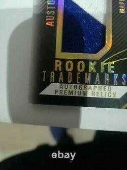 Auston Matthews 16-17 Black Trademark Premium Relic Rookie Rc/15 Gold Auto Patch