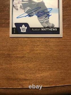 Auston Matthews 2016-17 O Pee Chee Platinum Rookie Auto R-AM Maple Leafs RC