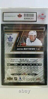 Auston Matthews 2016-17 Precious Metal Gem RED Rookie Hockey Card #113/150 9.5