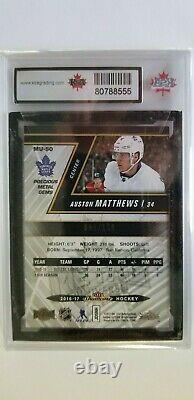 Auston Matthews 2016-17 Precious Metal Gem RED Rookie Hockey Card #91/150 KSA 9
