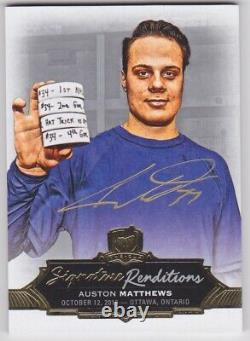Auston Matthews 2016-17 The Cup RC Auto On Card SP Renditions Maple Leafs