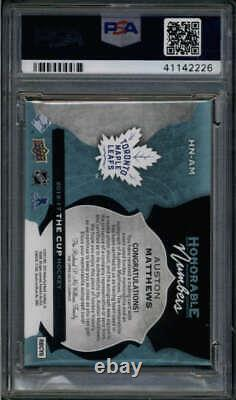 Auston Matthews 2016/17 Ud Cup Psa 9 Honorable Numbers Patch Auto Rc #/34 Fc4901