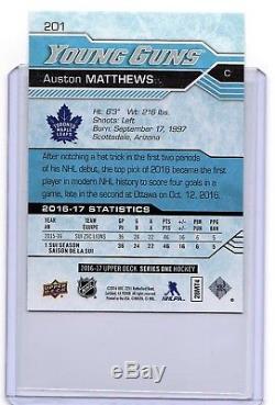 Auston Matthews 2016-17 Upper Deck ROOKIE Young Guns #201 Toronto Maple Leafs